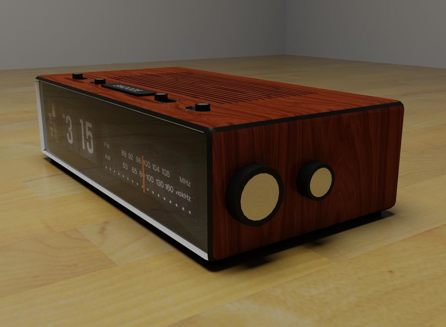 Alarm Clock Radio royalty-free 3d model - Preview no. 3