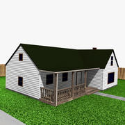 House and Garage 3d model