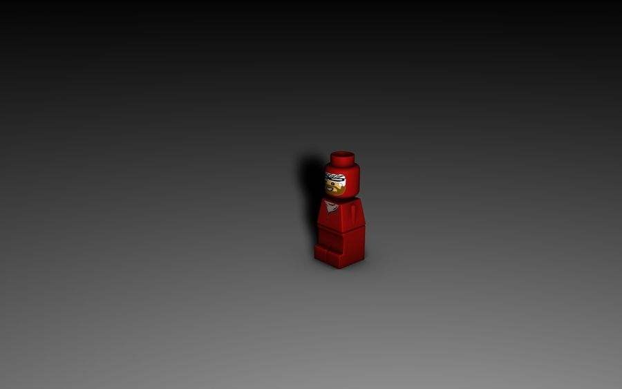 Lego Microfigure royalty-free 3d model - Preview no. 2