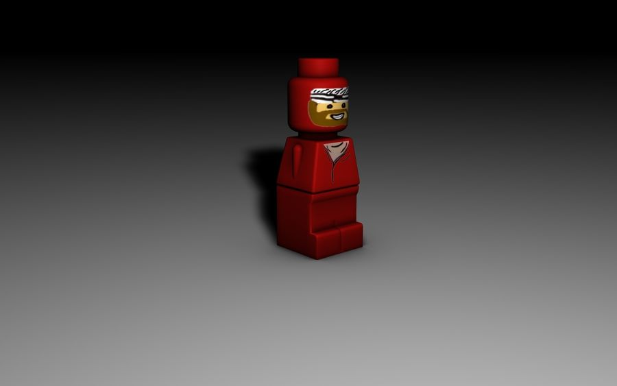 Lego Microfigure royalty-free 3d model - Preview no. 1