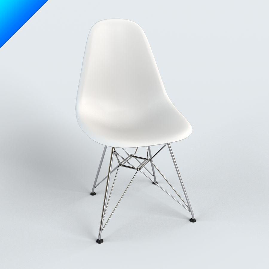 vitra dsr eames plastic side chair 3d model 25 max obj ma fbx
