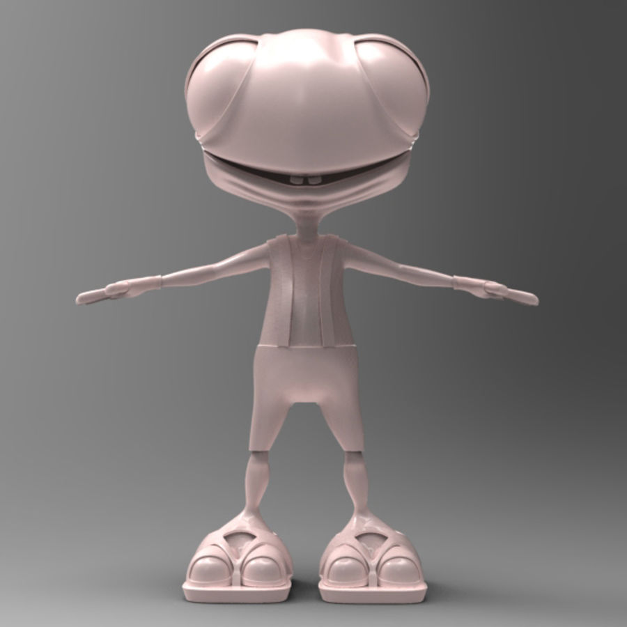 Personaje animado royalty-free modelo 3d - Preview no. 2