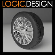 Wheel and Tyre 3d model