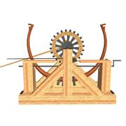 Da Vinci Catapult 3d model