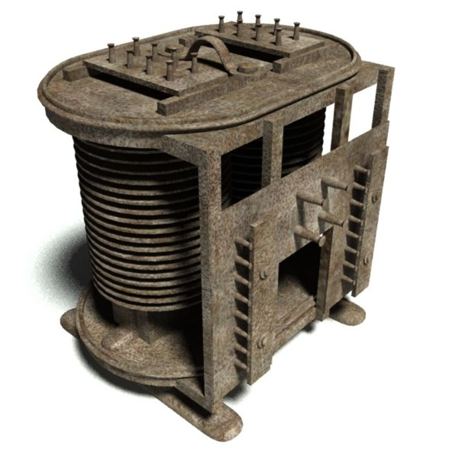 1920s transformer royalty-free 3d model - Preview no. 1