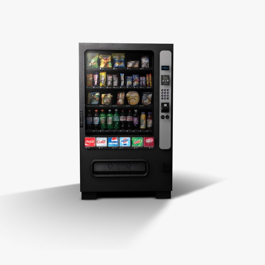 Vending Machine royalty-free 3d model - Preview no. 4