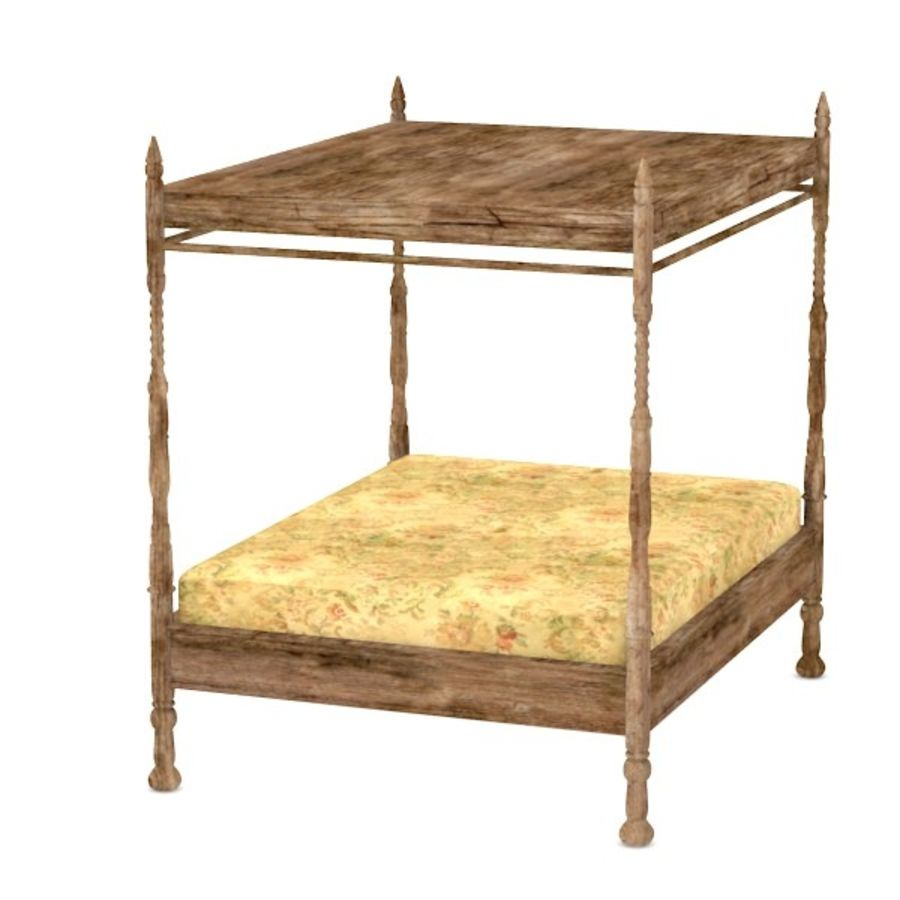antiek bed2 royalty-free 3d model - Preview no. 1