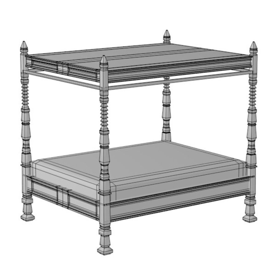 antiek bed2 royalty-free 3d model - Preview no. 2