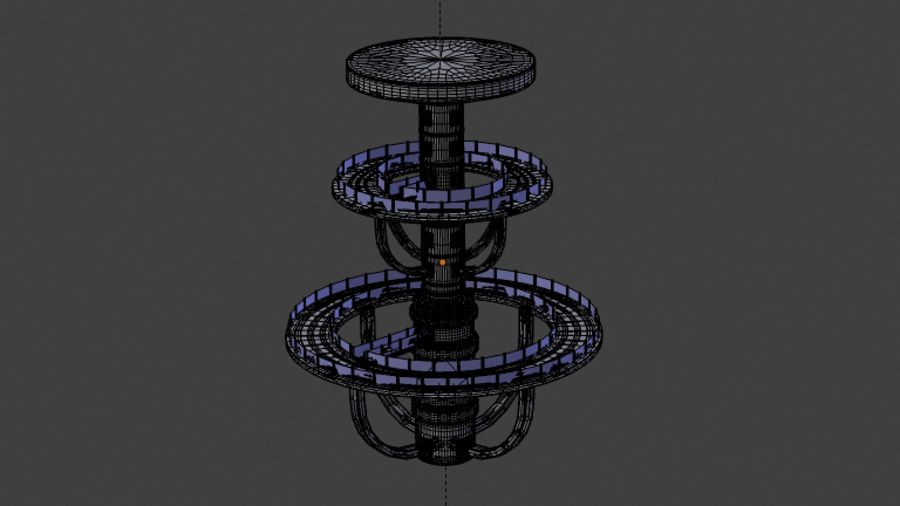 Futuristic Architecture Structure royalty-free 3d model - Preview no. 4