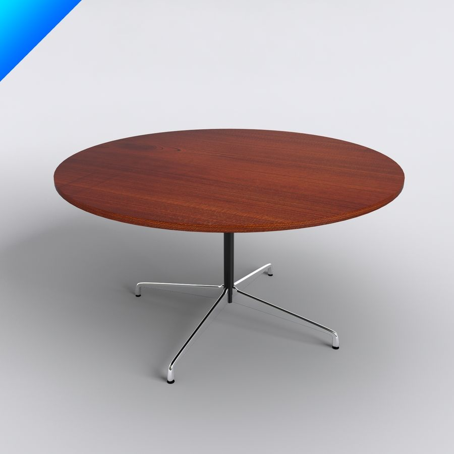 Eames Round Table Small Royalty Free 3d Model Preview No 1