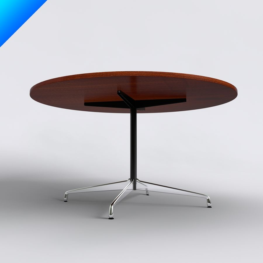 Eames Round Table Small Royalty Free 3d Model Preview No 3