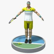 Tenis oyuncusu 3d model