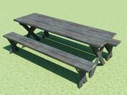 野餐桌和长凳 3d model