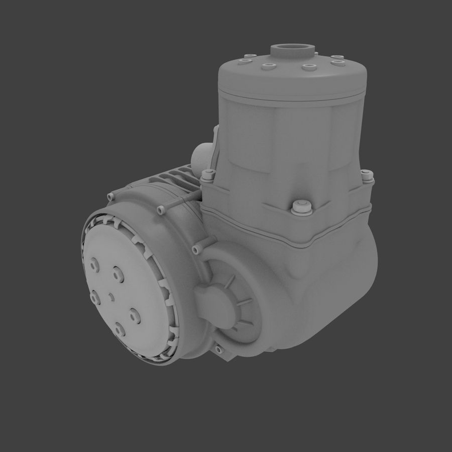Racing Kart Engine royalty-free 3d model - Preview no. 2
