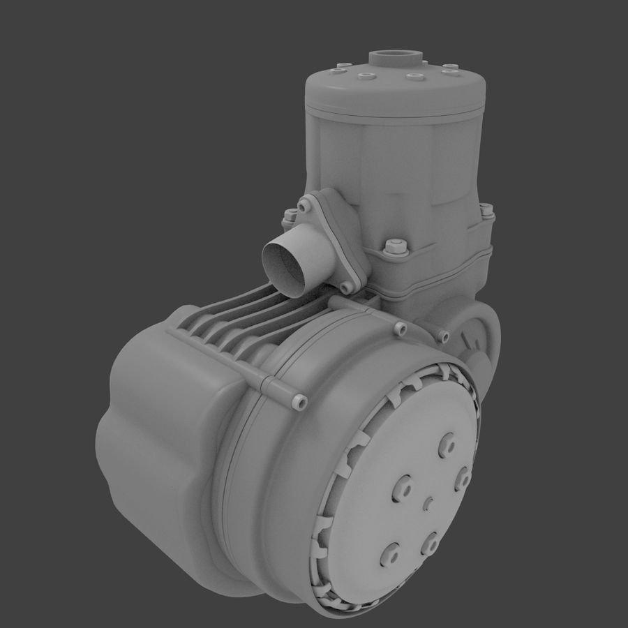 Racing Kart Engine royalty-free 3d model - Preview no. 3