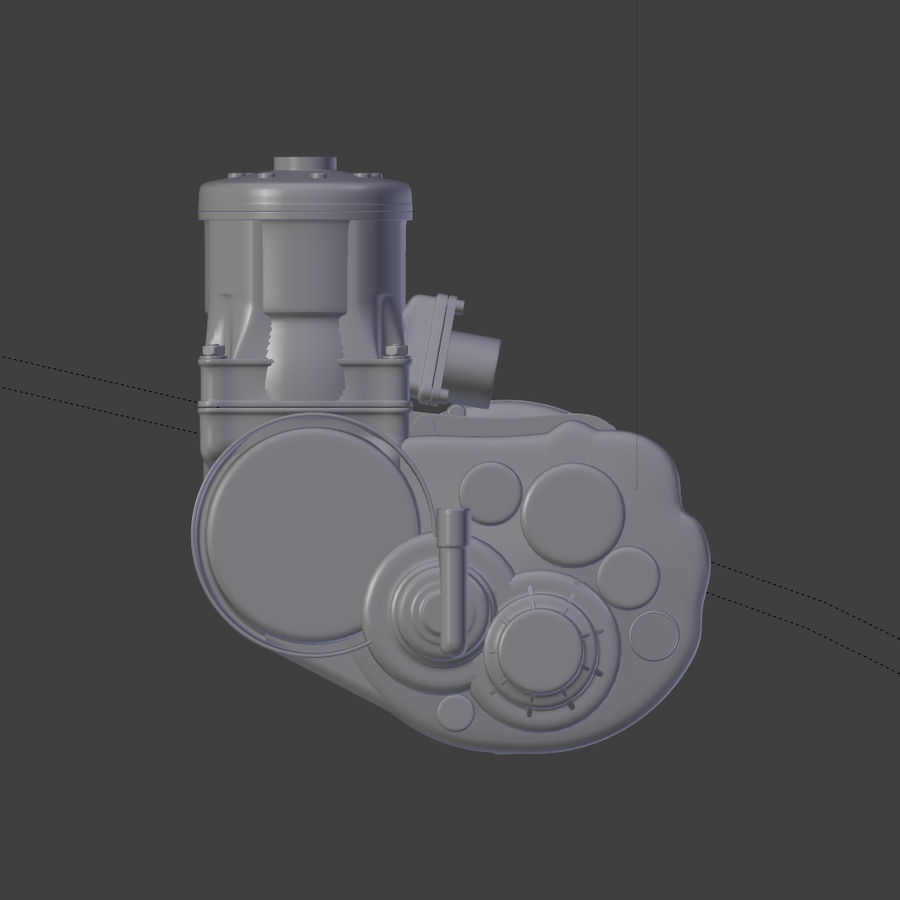 Racing Kart Engine royalty-free 3d model - Preview no. 8