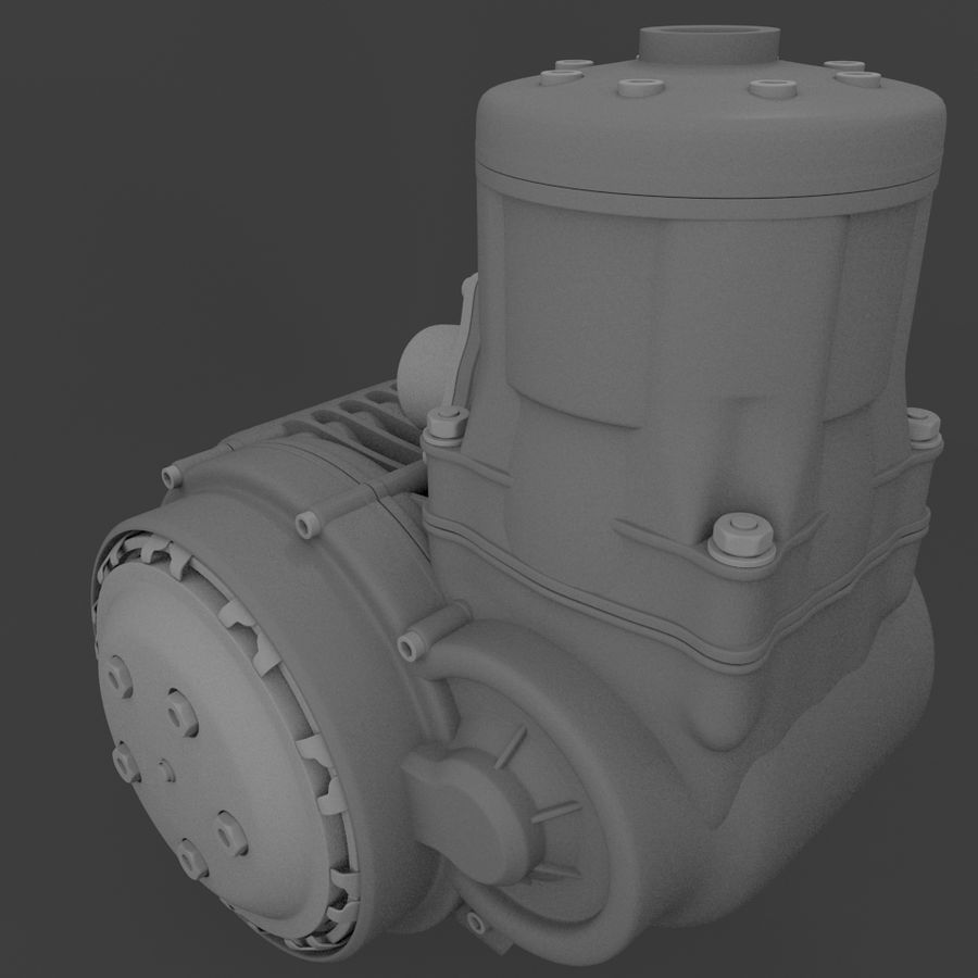 Racing Kart Engine royalty-free 3d model - Preview no. 7