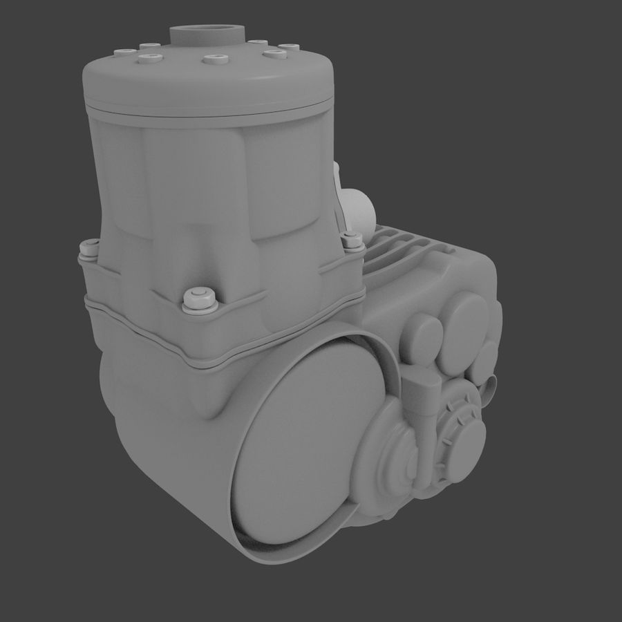 Racing Kart Engine royalty-free 3d model - Preview no. 5