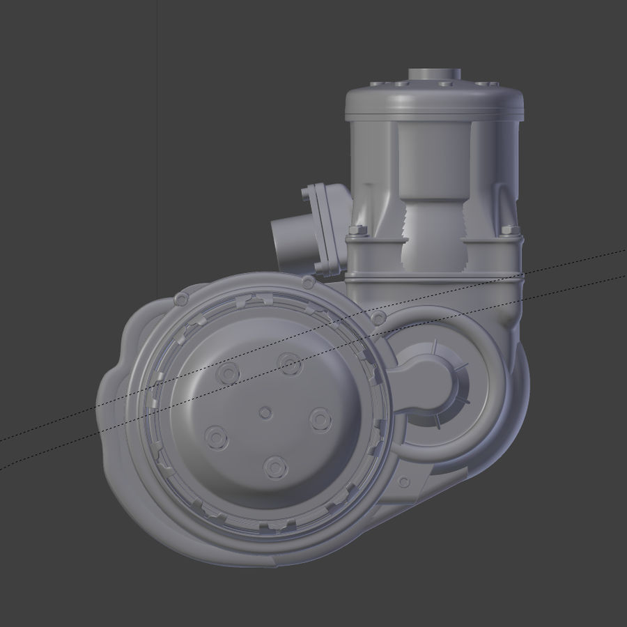 Racing Kart Engine royalty-free 3d model - Preview no. 9