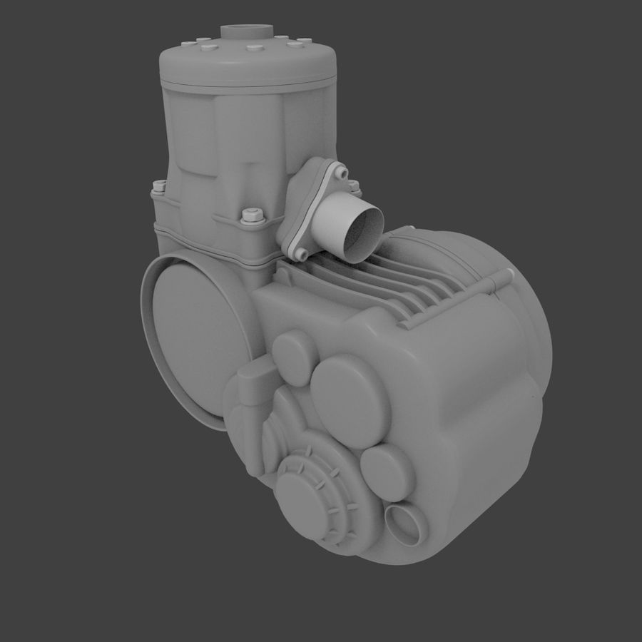 Racing Kart Engine royalty-free 3d model - Preview no. 4