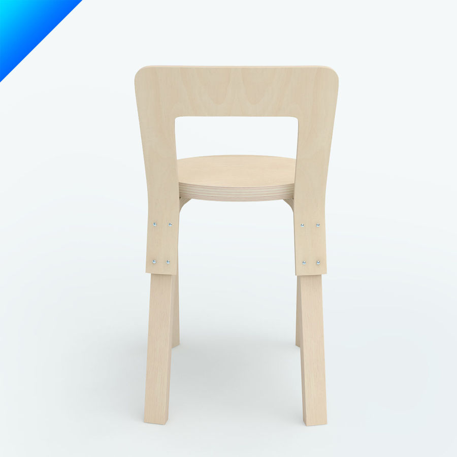chair 65 royalty-free 3d model - Preview no. 8