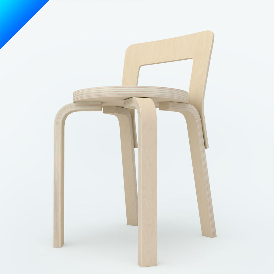 chair 65 royalty-free 3d model - Preview no. 3
