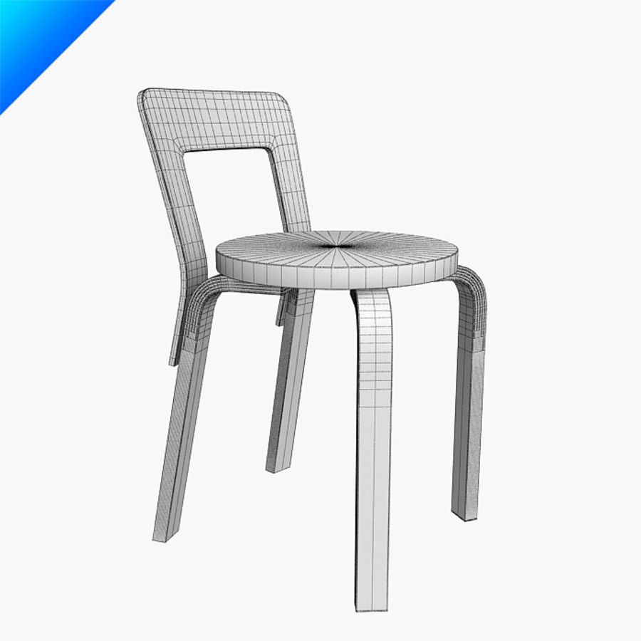 chair 65 royalty-free 3d model - Preview no. 10