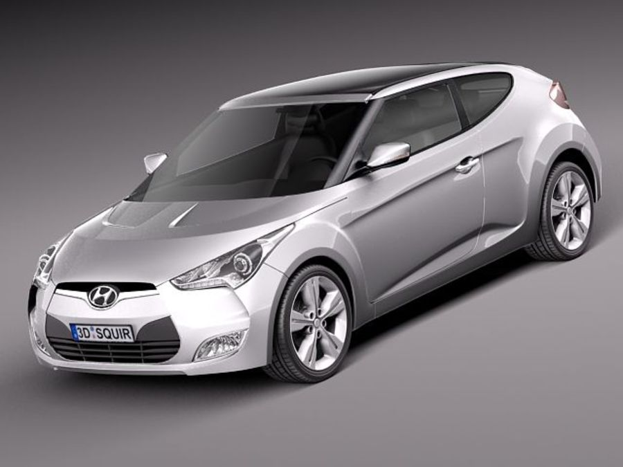 Hyundai Veloster 2012 royalty-free 3d model - Preview no. 1