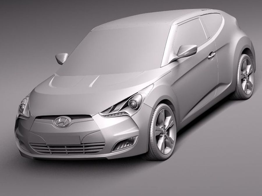 Hyundai Veloster 2012 royalty-free 3d model - Preview no. 12