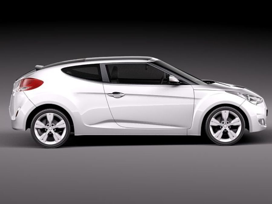 Hyundai Veloster 2012 royalty-free 3d model - Preview no. 7