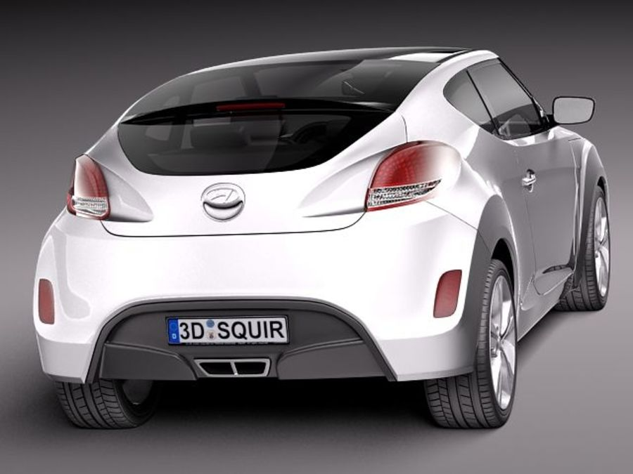 Hyundai Veloster 2012 royalty-free 3d model - Preview no. 6