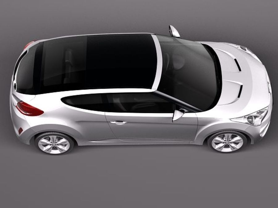 Hyundai Veloster 2012 royalty-free 3d model - Preview no. 8