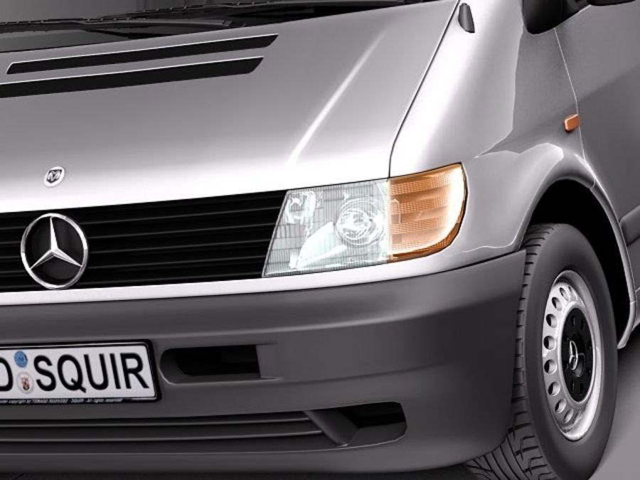 Mercedes Vito 1995-2000 cargo royalty-free 3d model - Preview no. 3