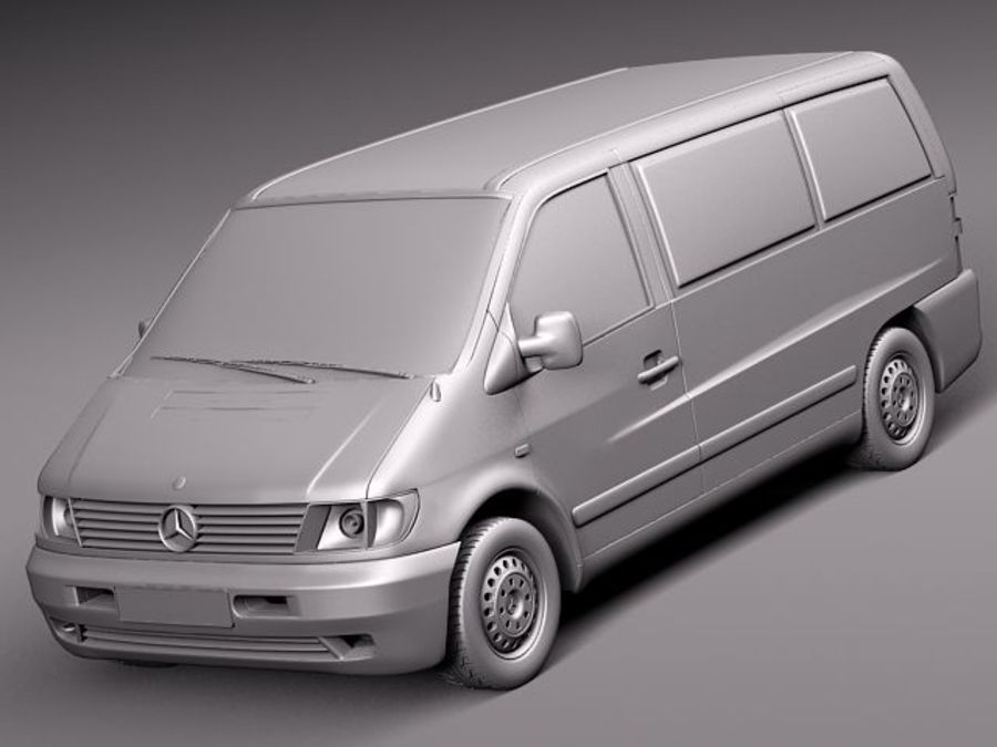 Mercedes Vito 1995-2000 cargo royalty-free 3d model - Preview no. 9