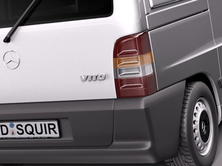 Mercedes Vito 1995-2000 cargo royalty-free 3d model - Preview no. 4