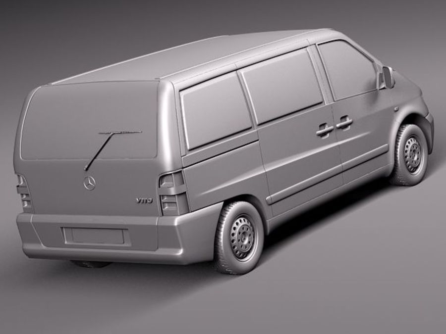 Mercedes Vito 1995-2000 cargo royalty-free 3d model - Preview no. 12