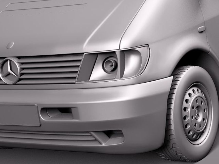 Mercedes Vito 1995-2000 cargo royalty-free 3d model - Preview no. 10