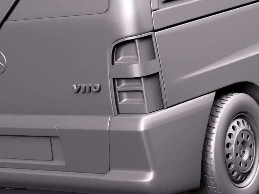 Mercedes Vito 1995-2000 cargo royalty-free 3d model - Preview no. 11