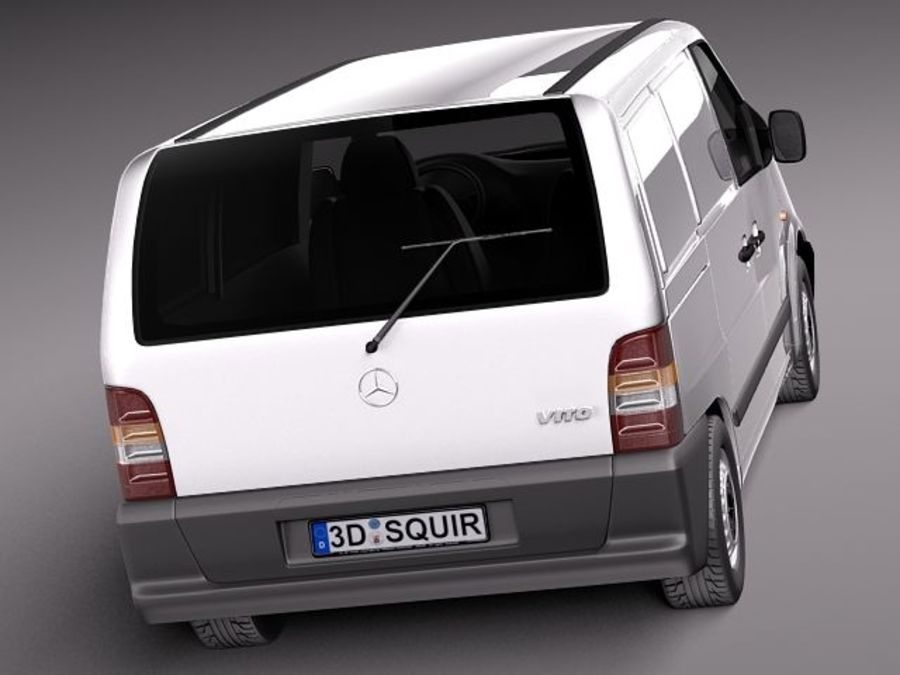 Mercedes Vito 1995-2000 cargo royalty-free 3d model - Preview no. 6