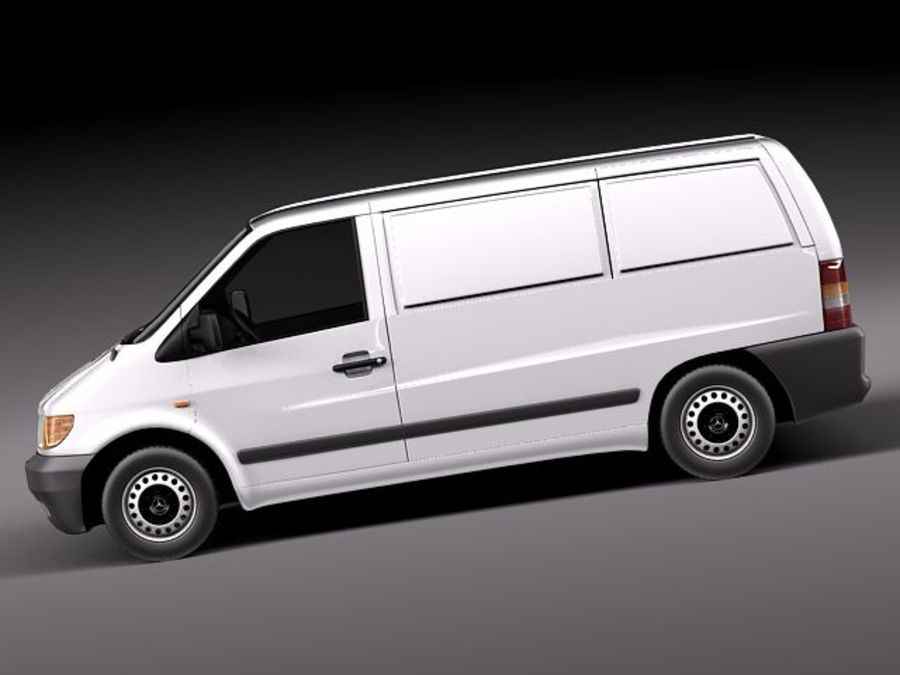 Mercedes Vito 1995-2000 cargo royalty-free 3d model - Preview no. 7