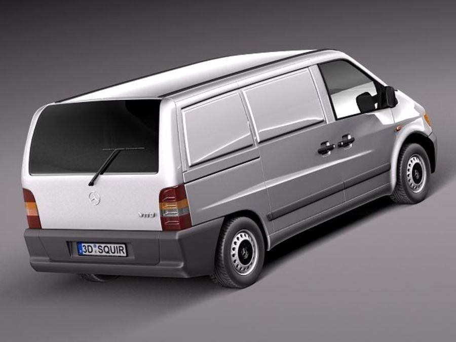 Mercedes Vito 1995-2000 cargo royalty-free 3d model - Preview no. 5