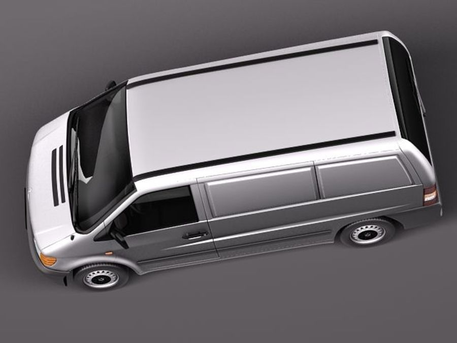 Mercedes Vito 1995-2000 cargo royalty-free 3d model - Preview no. 8