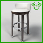 bar stool 1 3d model