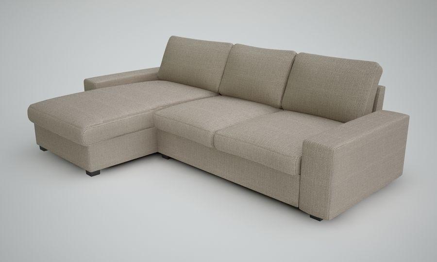 Ikea Sofa royalty-free 3d model - Preview no. 4