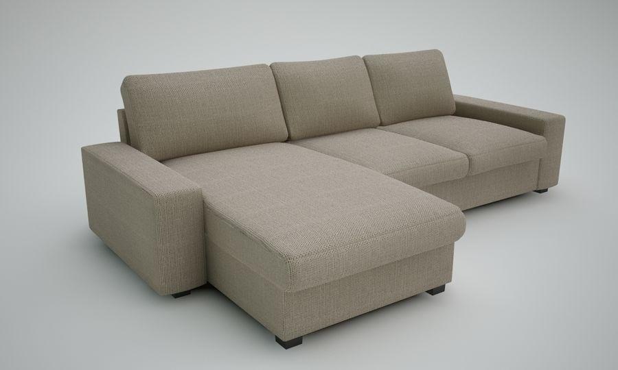 Ikea Sofa royalty-free 3d model - Preview no. 5