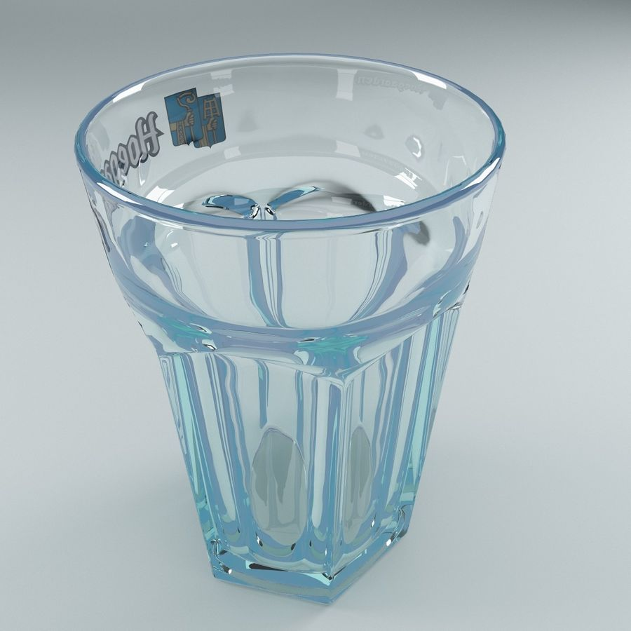 Beer Glass V3 royalty-free 3d model - Preview no. 4