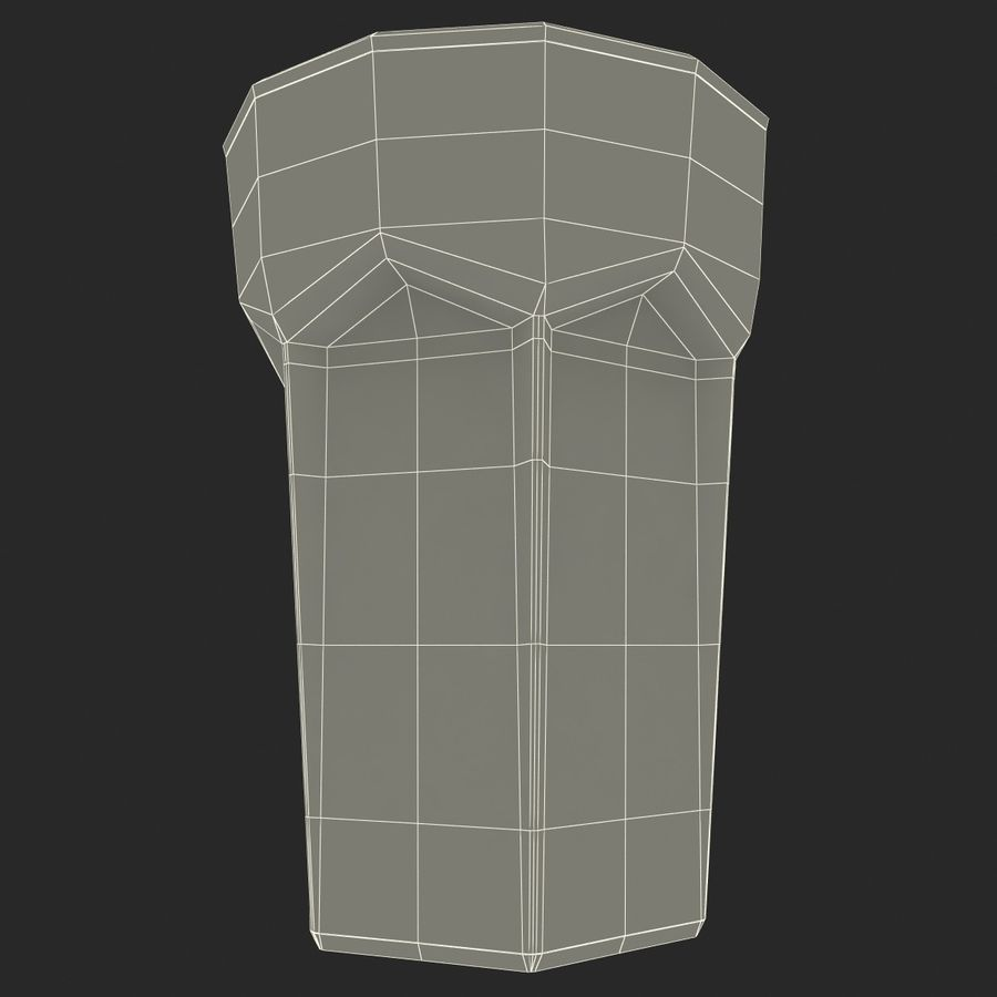 Beer Glass V3 royalty-free 3d model - Preview no. 9