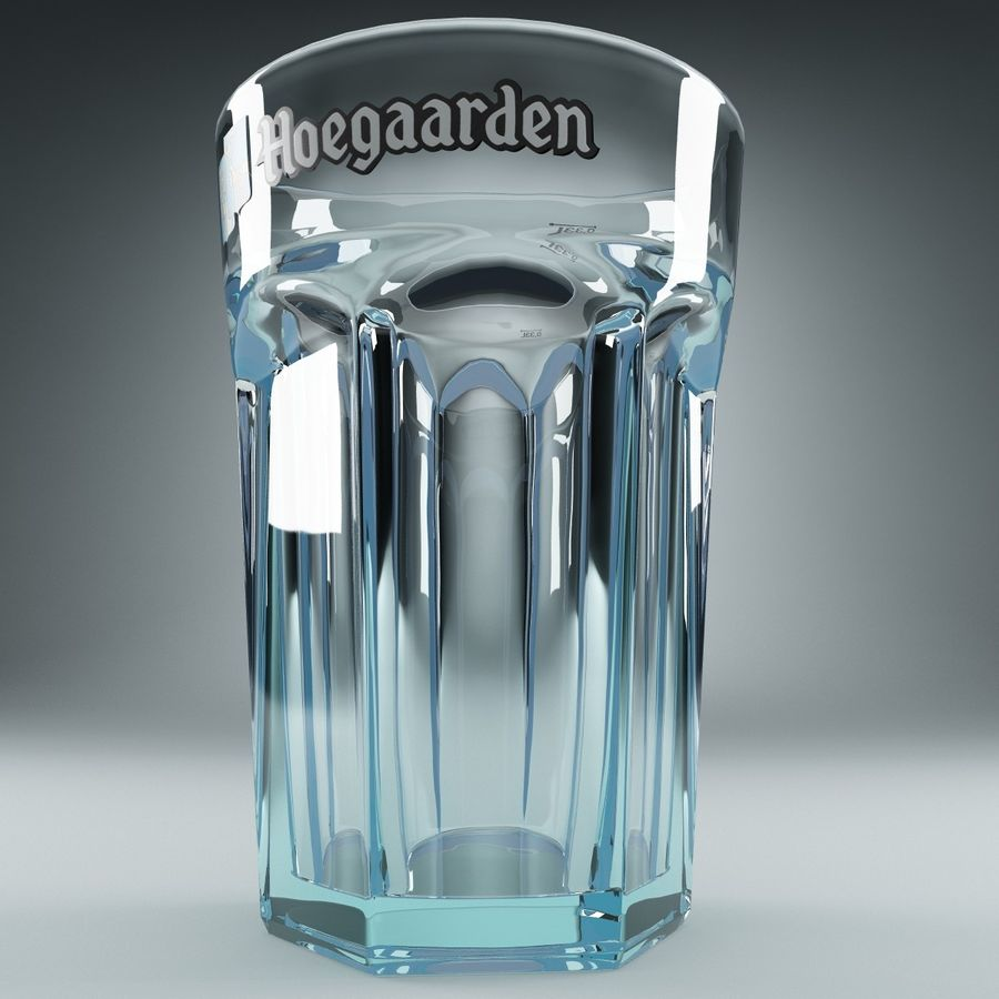 Beer Glass V3 royalty-free 3d model - Preview no. 7