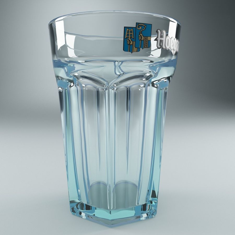 Beer Glass V3 royalty-free 3d model - Preview no. 2