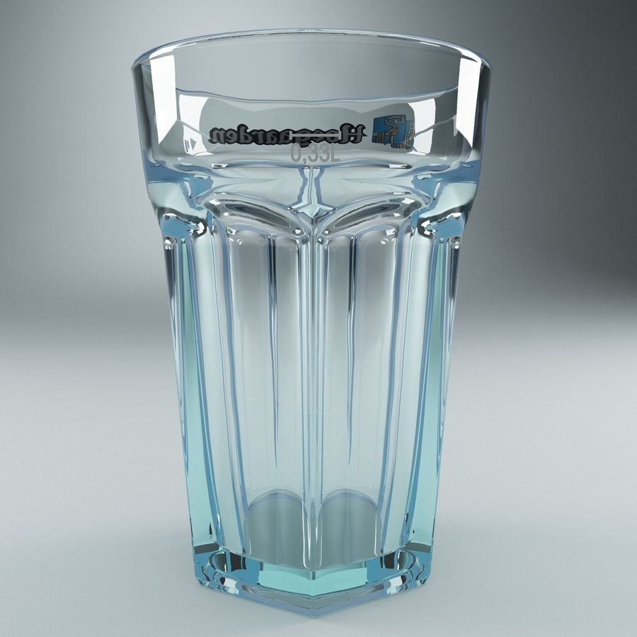 Beer Glass V3 royalty-free 3d model - Preview no. 3